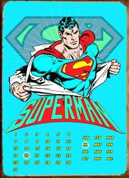 Metalllilaatta SUPERMAN RIPPED SHIRT
