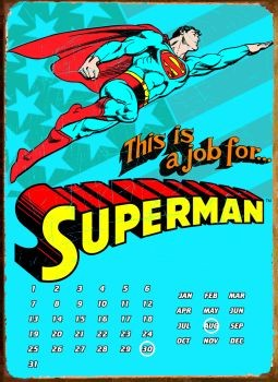 Metalllilaatta SUPERMAN THIS IS A JOB FOR ...