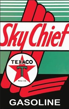 Metalllilaatta Texaco - Sky Chief