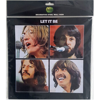 Metalllilaatta The Beatles - Let It Be