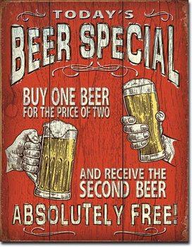 Metalllilaatta  Todays Beer Special