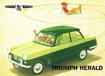 Metalllilaatta  Triumph herald