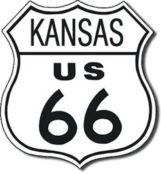 Metalllilaatta  US 66 - kansas