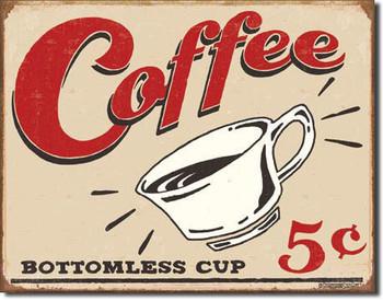 Metalllilaatta VINTAGE COFFEE