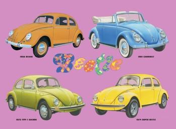 Metalllilaatta  VW BEETLE COLLAGE