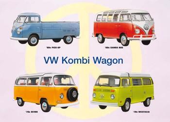 Metalllilaatta  VW KOMBI COLLAGE
