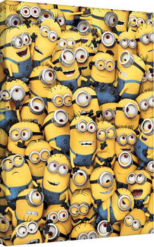 Minions (Despicable Me) - many minions Canvas Print
