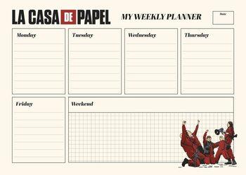 Viikkokalenteri Money Heist (La Casa De Papel)