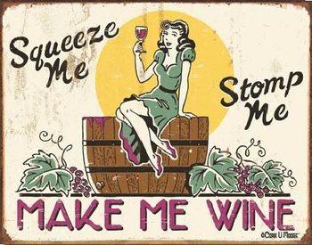 MOORE - make me wine Plaque métal décorée