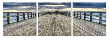 Abandoned pier Mounted Art Print