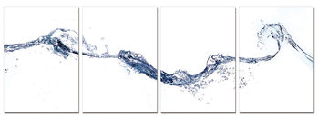 Abstraction of water Mounted Art Print