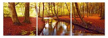 Autumn romance in the park Mounted Art Print