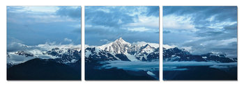 Blue clouds over the mountains Mounted Art Print
