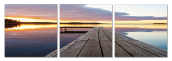 Calm Water - Wooden Jetty Mounted Art Print
