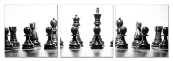 Chess figures Mounted Art Print