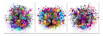Colored abstraction Mounted Art Print