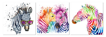 Colored horse Mounted Art Print