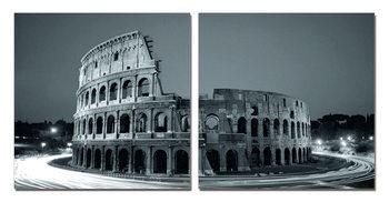 Colosseum - Amphitheatre at Twilight Mounted Art Print