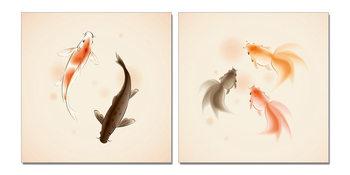 Fish Mounted Art Print