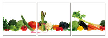 Fresh vegetables Mounted Art Print