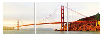 Golden Gate Bridge in San Francisco Mounted Art Print