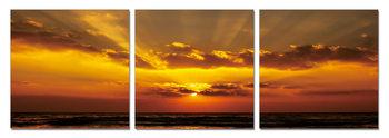 Golden sunset Mounted Art Print