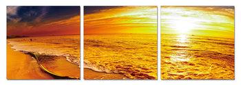 Golden tide Mounted Art Print