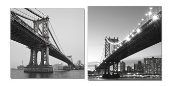 Gray bridge Mounted Art Print