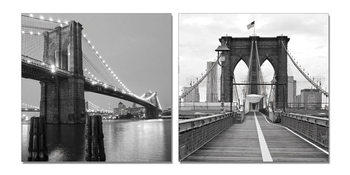 Gray bridge pillar Mounted Art Print