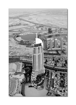 Gray view of the city Mounted Art Print