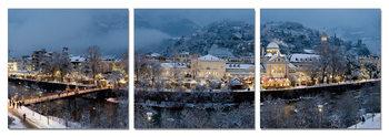 Karlovy Vary (Carlsbad) - Xmas Time Mounted Art Print