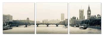 London - Thames, Westminster Palace Mounted Art Print