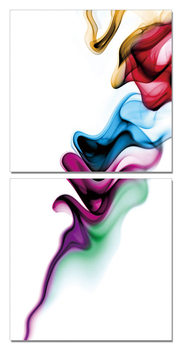 Modern Design - Colorful Smoke Mounted Art Print