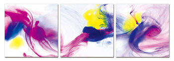 Modern Design - Colorful Smoke Mounted Art Print