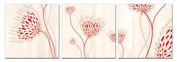 Modern design - flowers Mounted Art Print