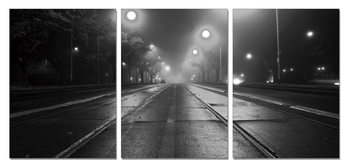 Night street Mounted Art Print