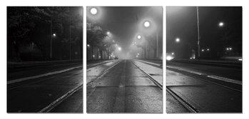 Night street Mounted Art Print