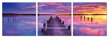 Pier at sunrise Mounted Art Print