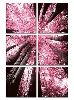 Pink treetop Mounted Art Print