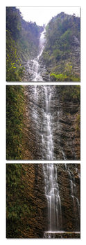 Sinuous waterfall Mounted Art Print