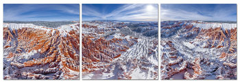 Snowy Mountains Mounted Art Print
