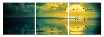 Sun welcoming - birds Mounted Art Print