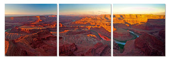 Sunrise over the Grand Canyon Mounted Art Print