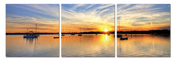 Sunset from the Sailing Boat Mounted Art Print