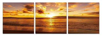 Sunshine over sea Mounted Art Print