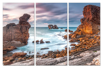 The bay in the rocks Mounted Art Print