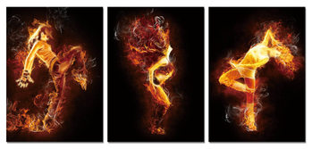 The fiery woman Mounted Art Print