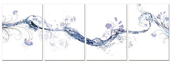 Water abstraction Mounted Art Print