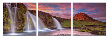 Waterfalls Mounted Art Print