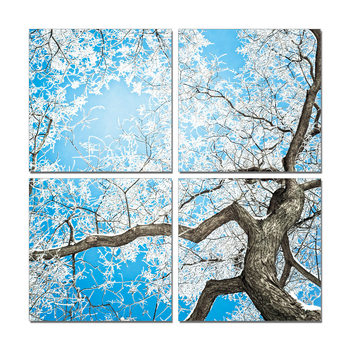 White treetop Mounted Art Print